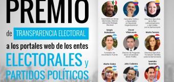 Transparencia Electoral premiará a los entes electorales y partidos políticos de #AmLat