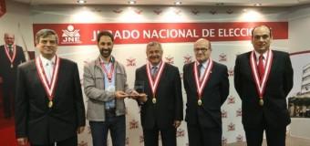 Transparencia Electoral fue recibida por el pleno del JNE del Perú.