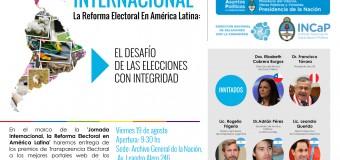 Jornada Internacional. La Reforma Electoral en América latina.