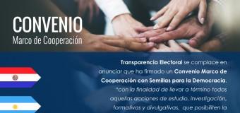 Transparencia Electoral y Semillas para la Democracia firmaron un convenio marco de cooperación
