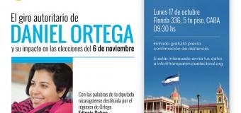 """Transparencia Electoral invita al evento """"El giro autoritario de Daniel Ortega y su impacto en las elecciones del 6 de noviembre"""""""