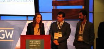 Transparencia Electoral entregó reconocimiento a María Eugenia Vidal en Washington por su compromiso democrático