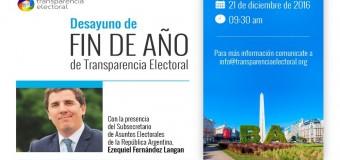 Desayuno de Transparencia Electoral con el Subsecretario de Asuntos Electorales de la Nación.