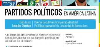 """Transparencia Electoral lanza el curso virtual """"Partidos Políticos en América Latina"""""""