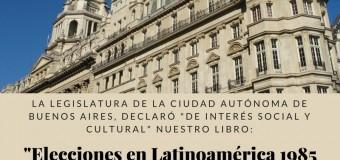 """Legislatura de la Ciudad de Buenos Aires declara """"de interés cultural y social"""" nuestro libro."""