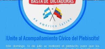 Transparencia Electoral acompañará la Consulta Popular del 16J Venezuela.