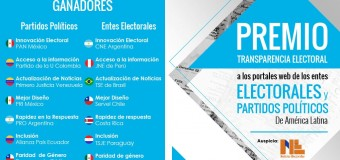 Transparencia Electoral premió a páginas web de entes electorales y partidos políticos de América Latina