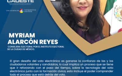 Entrevista a la Consejera Electoral por el IECM, Myriam Alarcón Reyes