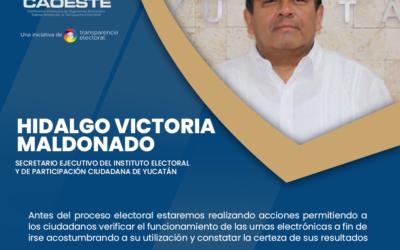 Entrevista a Hidalgo Victoria Maldonado, Secretario Ejecutivo del IEPAC Yucatán