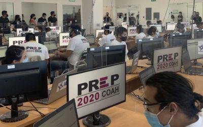 El IE Coahuila realiza el primer simulacro del Programa de Resultados Electorales Preliminares (PREP) de cara a la jornada electoral