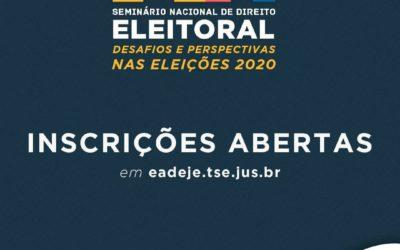 """Miembros de la CAOESTE participarán del """"Seminario Nacional de Derecho Electoral: desafíos y perspectivas en las Elecciones 2020"""""""
