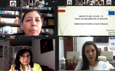 """La CAOESTE celebró el webinar """"El impacto del COVID-19 en la participación política y electoral de la Mujer en América latina"""""""