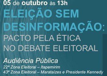El TRE-ES realiza una audiencia pública con candidatos a alcalde de Itapemirim, Marataízes y presidente Kennedy para combatir las fake new