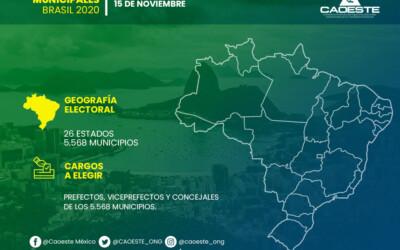 La CAOESTE invita a repasar los datos más relevantes sobre las Elecciones Municipales Brasil 2020