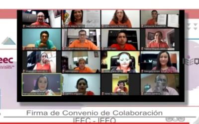 Firma de Convenio de Colaboración entre IEE Campeche y el IEQROO