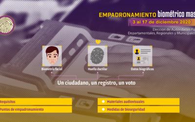 Bolivia: los TED iniciaron el Empadronamiento Biométrico Masivo para las elecciones 2021