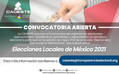 """Participa de la edición de mayo de nuestra revista """"Elecciones y Democracia Subnacional"""""""