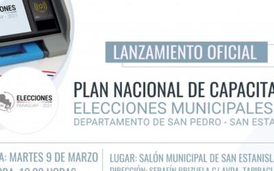 Elecciones Municipales de Paraguay: continúan actos de lanzamiento del Plan de Capacitación en el interior del país