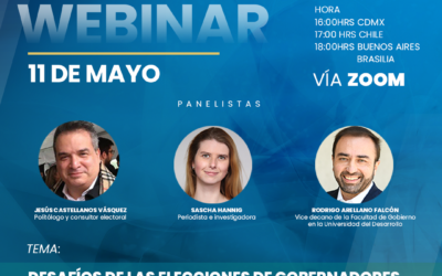 """Participa del webinar """"Desafíos de las elecciones de gobernadores, alcaldes y concejales Chile 2021"""""""