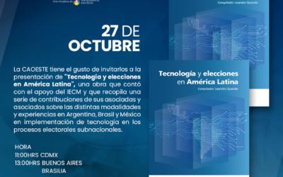 """Presentación del libro """"Tecnología y elecciones en América Latina"""""""